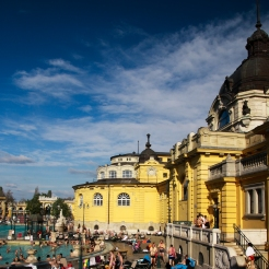 The famous Széchenyi thermal bath